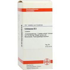 ECHINACEA HAB D 3 Tabletten:   Packungsinhalt: 200 St Tabletten PZN: 02629908 Hersteller: DHU-Arzneimittel GmbH & Co. KG Preis: 10,49 EUR…