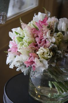 tulip,sweet pea and astilbe