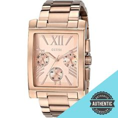 GUESS Women's Sophisticated Classic Rose Gold-Tone Multi-Function Watch