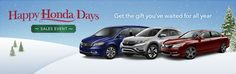 Hurry in and take advantage of the great deals during the Happy Honda Days Sales Event!
