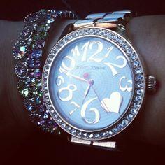 <3 betsey johnson watch