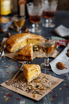 Galette des Rois {rellena de peras escalfadas en licor y vainilla}