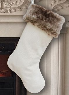 Monogrammed faux fur Christmas stocking. Want. | Holiday Decor ...