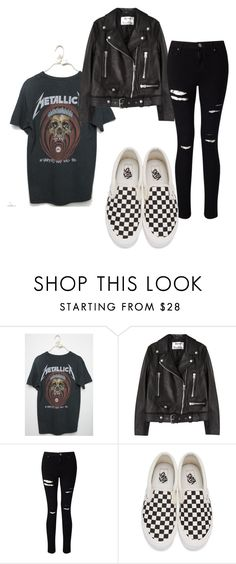 """Checker Vans"" by queen-100 on Polyvore featuring Acne Studios, Miss Selfridge and Vans"