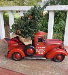 Personalized Red truck Red truck Farmhouse truck Old Red image 0 Christmas Red Truck, Fresh Christmas Trees, Winter Christmas, Christmas Holidays, Christmas Crafts, Christmas Ideas, Xmas Trees, Christmas Scenes, Christmas Pictures