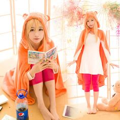 Anime Himouto! Umaru-chan Cosplay Cloak Hoodies Flannel Coat Daily Blanket Quilt #new #Cape