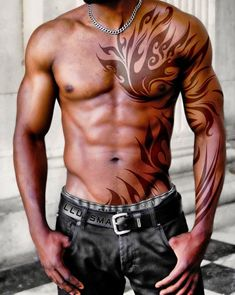 Tribal tattoo for man - 70+ Awesome Tribal Tattoo Designs  <3 !