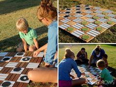DIY backyard Super-sized Checkers