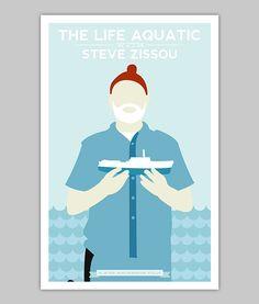El cartel de la vida acuática con Steve por WilliamHenryDesign
