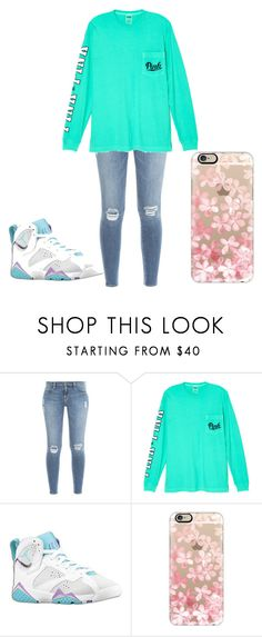 """""""Blue Is Life"""" by lightskinsquad12 ❤ liked on Polyvore featuring Frame Denim, Victoria's Secret, Mineral and Casetify"""