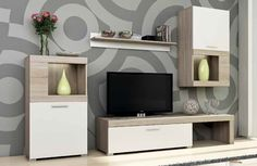 Flavo Entertainment Unit for TVs up to Selsey Living Bulb Included: No Living Room Tv Unit Designs, Bedroom Cupboard Designs, Interior Design Living Room, Modern Furniture Sets, Living Room Furniture, Diy Furniture, Karton Design, Country Cupboard, Hazelwood Home