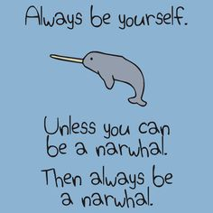 Cute Narwhal Not A Unicorn T shirt. Don't be confused. Narwhals ...