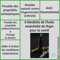 6 bienfaits de l'huile essentielle de thym pour la santé