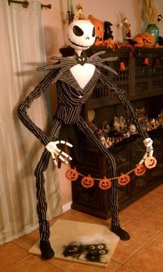 Life Size Jack Skellington <-- Very detailed instructions; lots of design ideas that you can transfer to other projects
