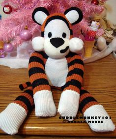 Sock Tiger: Hobbes by ArtsyAndreaM.deviantart.com on @deviantART
