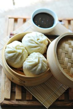 Chinese Steamed Bun with Pork Filling