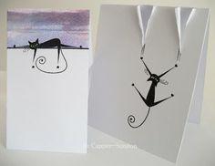 Great cat card ideas by Jo Capper-Sandon.