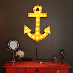Vintage Marquee Lights  Anchor by VintageMarqueeLights on Etsy, $249.00
