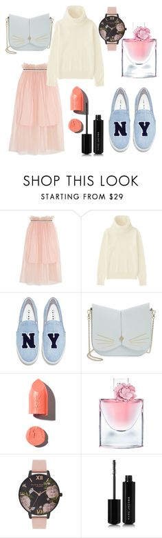"""""""youth"""" by kiramaraj ❤ liked on Polyvore featuring Mother of Pearl, Uniqlo, Joshua's, Ted Baker, PUR, Lancôme, Olivia Burton and Marc Jacobs"""