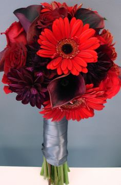 Shades of Red Bridal Bouquet