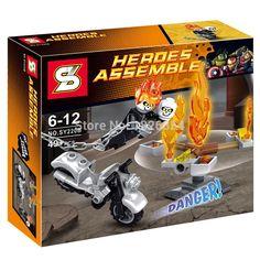 Building Blocks Super Heroes Avengers SY220 Spiderman Batman capitán américa con de la motocicleta figuras juguetes Compatible con Lego en Juegos de Bloques de Juguetes y Aficiones en AliExpress.com | Alibaba Group Avengers, Spiderman, Batman, Alibaba Group, Brick, Superhero, Toys, Toy Block, Hobbies