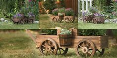 Wooden Wagon Planter — Get Your Garden Rolling