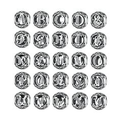 Pandora Style Alphabet Letter Charms //Price: $14.99 & FREE Shipping //     #hashtag2