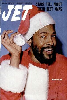 Marvin Gaye as Santa Claus on the cover of Jet Magazine, December 1976