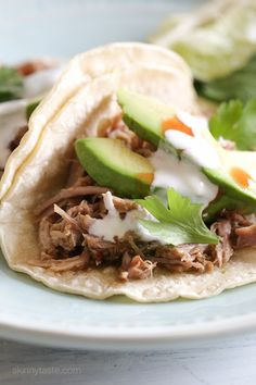 Delicious Mexican pork made in the Instant Pot (pressure cooker) for tacos, burrito bowls, taco salads and more (also great with cilantro lime rice)! Since posting this Instant Pot Chicken and Lentil Soup Recipe a few weeks ago I Instant Pot Pressure Cooker, Pressure Cooker Recipes, Pressure Cooking, Slow Cooker, Rice Cooker, Pressure Pot, Pork Recipes, Mexican Food Recipes, Healthy Recipes