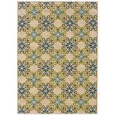 Found it at Wayfair - <strong>Oriental Weavers</strong> Caspian Ivory/Blue Indoor/Outdoor Rug