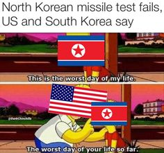 North Korea bout to get raed