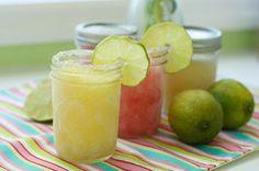 Make Ahead Frozen Mango & Raspberry Margaritas ~