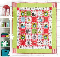 Trim Up the Tree Quilt Kit by RK Studios featuring Robert Kaufman How The Grinch Stole Christmas Fabric