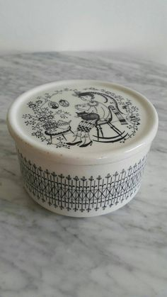 Sugar Container, Eating Ice Cream, Cat Drinking, Cat Scratching, Cup And Saucer, Finland, Scandinavian, Mid Century, Pottery