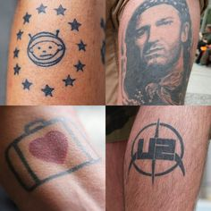 """""""Announcing our exhibit: """"Ink, Icons, Identity: Exploring Brand Through Fan Tattoos,"""" Aug FL"""" U2 One Love, Love Tattoos, Tatoos, Fan Tattoo, Tattoo Project, Tatting, U2 Songs, Art Drawings, Ink"""