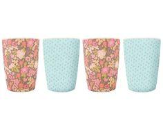 Mae | Floral Bamboo Tumblers (set of 4) - Shak-Shuka