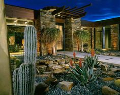 arizona outdoor architecture | Contemporary Landscape Design House Residence Rusnak - Minimalist ...