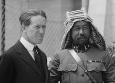 Lawrence with Emir Abdullah, 1921 Tides Of Man, Gertrude Bell, Ibn Ali, Golden Warriors, King Abdullah, Bronte Sisters, Jonathan Swift, Lawrence Of Arabia, Epic Photos
