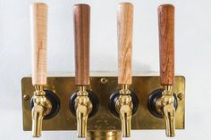 These tap handles are made to be quick and easy (and classy) replacements for those little black plastic handles that probably came with your