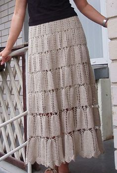 Crochet Dress Patterns - Beautiful Crochet Patterns and Knitting Patterns Crochet Skirt Pattern, Crochet Skirts, Crochet Tops, Knit Patterns, Clothing Patterns, Dress Patterns, Left Handed Crochet, Black Crochet Dress, Most Beautiful Dresses