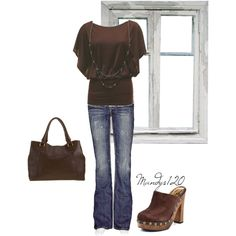 Brown, created by mandys120 on Polyvore
