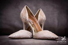Cream Lace Wedding Shoes | Photo by Femina Photo + Design