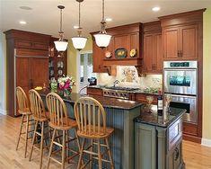 1000 images about kitchen ideas on pinterest ceramics - Two tier kitchen island ...