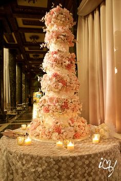 Pink Wedding Cakes - Want the pink color to perfect your wedding? Check out this outstanding collection of Pink Wedding Cakes from The Knot! Beautiful Wedding Cakes, Beautiful Cakes, Amazing Cakes, Glamorous Wedding, Tall Cakes, Free Wedding, Wedding Ideas, Wedding Stuff, Wedding Pictures