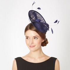 Debut Navy small saucer bow hair piece- at Debenhams.com