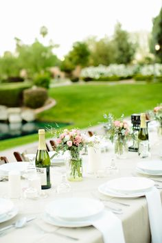 Simple chic table setting