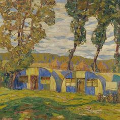 'Camouflage Huts, Villers-au-Bois by A. Jackson' by classicartcache Canvas Art Prints, Oil On Canvas, Canvas Wall Art, Framed Prints, Ww1 Art, Canadian Artists, First World, Decorative Throw Pillows, Painting & Drawing