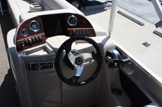 Steering wheel on one of our Avalon pontoons!