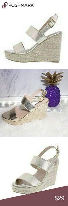 Women's Gold Cream Wedge Sandals Size 8 Shoes Hotter than ever this season! A dose of chicness to your everyday wardrobe. Comfortable go with just about everything. Super easy to dress them up or down. Absolutely stunning   . Size 8  . Condition Good  . Color Gold Cream  . Bundle & SAVE 25% off 🍍  . Reasonable offers welcome😃  No additional shipping charge when you purchase more from my closet   Every purchase will be packed with Care & a Special FREE GIFT 🎁   🍍 25% OFF on bundles…