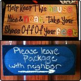 Remove Your Shoes Sign with a Chalkboard Back by CharlottesLilShop, $25.00